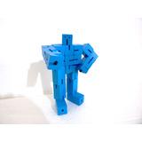 Robot Articulado De Madera Transformer Cubo Promo Dia Niño