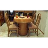 Mesa con cuatro sillas usadas comedor usado en mercado for Mesa algarrobo usada