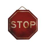 Placa De Trânsito Em Mdf - Stop - Quadro