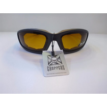 Lentes Goggles Choppers Polarized Uv400 Ambar/negro
