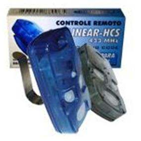 Kit 100 Controle Remoto 4 Teclas Linear Hcs Modelo Tx4 Azul