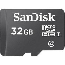 Sandisk Memoria Micro Sd Hc 32gb Clase 4 Adaptador Sd Sdsdqm