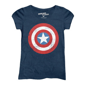 Capitan America Logo Mujer Mascara De Latex Marvel Comics