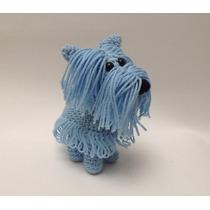 Perro Schnauzer Azul Amigurumi / Muñeco Tejido