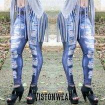 Calça Legging Fake Jeans Lipsoul Girls Mendigata !!!
