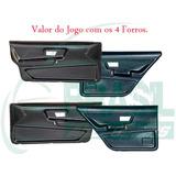 Kit 4 Forros Lateral Porta Santana 4 Portas 85/90 Preto
