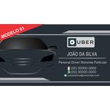 Arte Cartão De Visita Motorista Executivo Particular Uber
