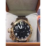 Relógio Z7970 U-boat Dourado Preto + Garantia
