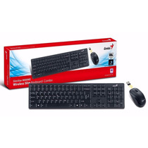 Teclado + Mouse Genius Kb 8000x Wireless Usb Black Mayor