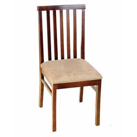 Cadeira De Jantar Madeira Maciça Assento Estofado