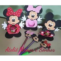 Lembrancinha Festa Infantil Ponteiras De Lapis Mickey Minie