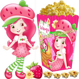 Kit Imprimible Frutillita Golosinas Candy Bar Y Cotillon 2x1