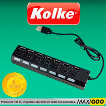 Hub Usb Multiplicador 7 Puertos Usb Con Switch - Kolke