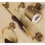Kit Banheiro Acessório Vintage Toalha Papel Suporte Bronze