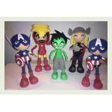 Muñeco 3d Centro Mesa Avengers Hulk Capitan Thor Araña Foami