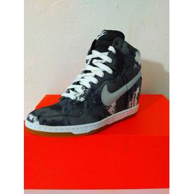 Tenis Bota Nike Dunk Sky Hi 528899302 Gris 25mx Evio Gratis