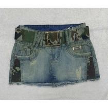 Mini Saia Jeans Desfiada, Lindo Modelo Tamanho 36