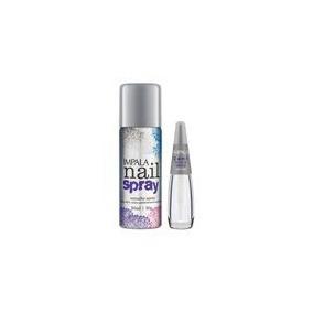 Kit Impala Esmalte Nail Spray + Esmalte Tratamento 2 Em 1