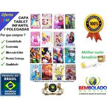 Capa Tablet Infantil 7 Pokemon Frozen Minions Mickey Ben 10&