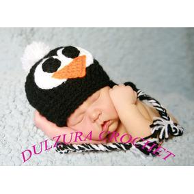 Gorro Tejido Crochet Pingüino Bebés Niña Niño Unisex Regalo