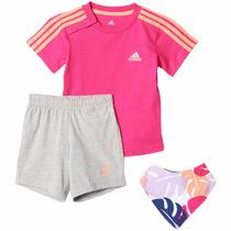 Conjunto Playera Con Short Para Bebe Adidas Aj7358