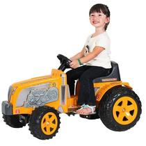 Trator Fazendeiro Amarelo Mini Infantil C/ Pedal Biemme