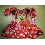 Vestido Fantasia Roupa Aniversário Minnie Vermelha + Tiara
