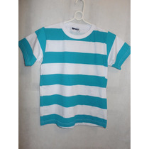 Camisa Listrada Azul - Tamanhos 6, 8