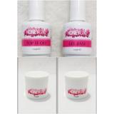 2 Gel Pink Honey Girl 50gr + Top Coat + Primer Gel Base