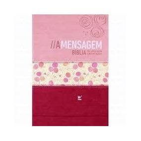 Bíblia A Mensagem Capa Luxo Rosa