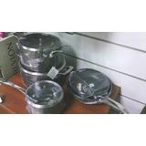 Juego De Ollas Magefesa Gourmet 8 Piezas /aluminio/anodizado