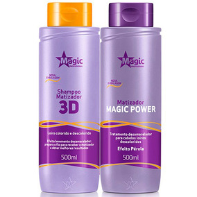 Kit Magic Color Shampoo 500ml + Máscara Efeito Pérola 500ml