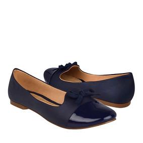 Capa De Ozono Zapatos Dama Vestir 312919-2 Simipiel Azul