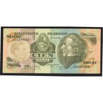 Uruguay Billete 100 Nuevos Pesos 1987 Serie G P # 62a