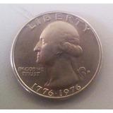 Moneda De Un Cuarto De Dolar 1776-1976