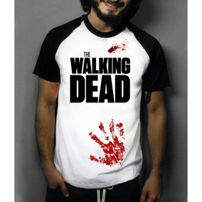 Camiseta Raglan Manga Curta The Walking Dead Infectados Zumb