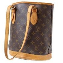 Louis Vuitton Autentica Bucket Shoulder Bag M42236