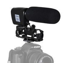 Microfone Shotgun Direcional Para Câmera Nikon Slr D500
