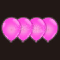 Balão Bexiga De Neon Rosa Nº10 - Com 30 Unidades