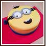 Torta Minions Decoracion 100% Artesanal 2 Kg Mínimo