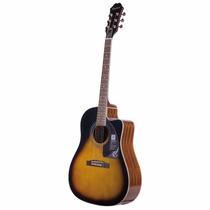 Guitarra Electro Acustica Epiphone Aj220 Sce Natural!!