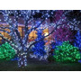 Luces De Navidad A Energía Solar 50 Leds Azul 5 M