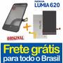 Kit Tela Touch + Display Lcd Nokia Lumia 620 N620 + Garantia