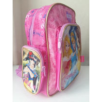 Mochila Escolar Princesas Disney Pequena Infantil Chenson