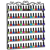 Multi Organizador De Esmaltes 6niveles Rack Pared Salón Hoga