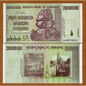 Zimbábue 200 Milhões Dollars 2008 P. 81 Fe Cédula Tchequito
