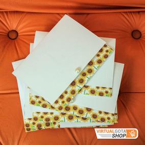 5 Convites De Casamento Simples Barato Bonito Floral Amarelo