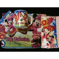 Set De Jardin Personalizado Taza Mickey Minnie Pluto Goofy