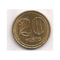 Colombia Moneda De 20 Pesos Año 2004 !!!