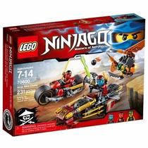 Brinquedo Lego Ninjago Ninja Bike Chase 231 Peças 70600